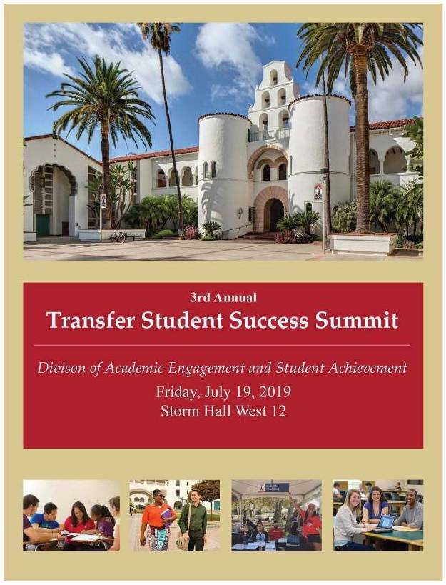 Transfer Student Success Summit Program Cover 2019